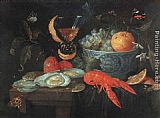 Jan van Kessel Still Life with Fruit and Shellfish painting