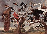 Jan van Kessel The Mockery of the Owl painting