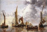 Jan van de Capelle The State Barge Saluted by the Home Fleet painting