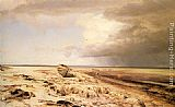 Janus Andreas Bartholin La Cour Deserted Boat on a Beach painting