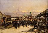 Jean Baptiste Edouard Detaille Chorus Of The Fourth Infantry Battalion At Tsarskoe Selo painting