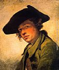 Jean Baptiste Greuze A Young Man in a Hat painting