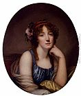 Jean Baptiste Greuze Portrait Of A Young Woman, Said To Be The Artist's Daughter painting
