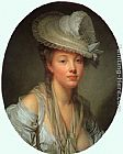 Jean Baptiste Greuze Young Woman in a White Hat painting