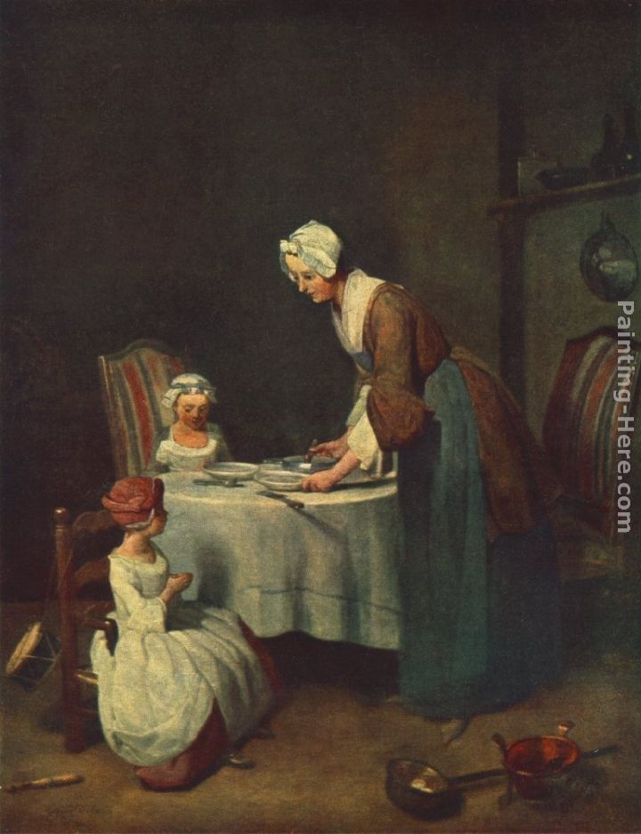 Jean Baptiste Simeon Chardin The Prayer before Meal