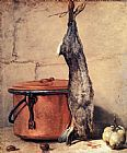 Jean Baptiste Simeon Chardin Rabbit, Copper Cauldron and Quince painting