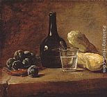 Jean Baptiste Simeon Chardin Still Life with Plums painting