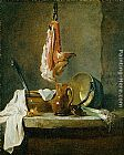 Jean Baptiste Simeon Chardin Still Life with a Rib of Beef painting