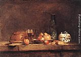 Jean Baptiste Simeon Chardin Still-Life with Jar of Olives painting