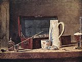 Jean Baptiste Simeon Chardin Still-Life with Pipe and Jug painting