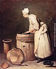 Jean Baptiste Simeon Chardin The Scullery Maid painting