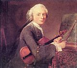 Jean Baptiste Simeon Chardin Young Man with a Violin painting