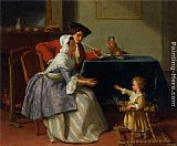 Jean Carolus Babys First Steps painting