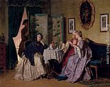Jean Carolus The Eavesdropper painting