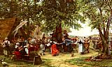 Jean Charles Meissonier The Village Festival painting