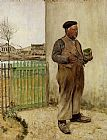 Jean Francois Raffaelli Man Having Just Painted His Fence painting