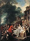 Jean Francois de Troy A Hunting Meal painting