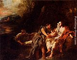 Jean Francois de Troy Moses Cast Into The Nile painting