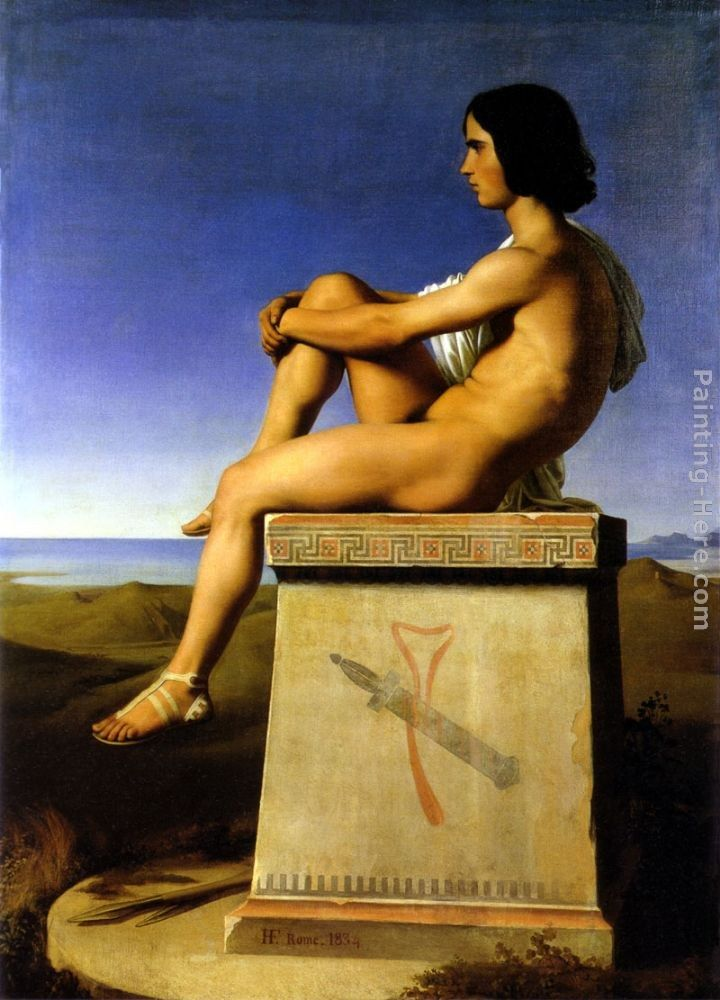 Jean Hippolyte Flandrin Polites, Son of Priam, Observes the Movements of the Greeks