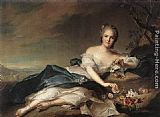 eze cote dazur france Paintings - Marie Adelaide of France as Flora