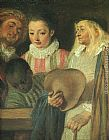 Jean-Antoine Watteau Actors from a French Theatre - detail painting