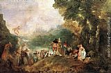 Jean-Antoine Watteau The Embarkation for Cythera painting