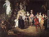 Jean-Antoine Watteau The French Comedy painting