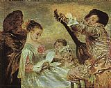 Jean-Antoine Watteau The Music Lesson painting