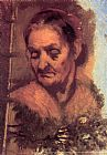 Jean-Baptiste Carpeaux Portrait of an Old Woman painting