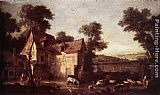 Jean-Baptiste Oudry Farmhouse painting