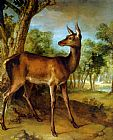 Jean-Baptiste Oudry The Watchful Doe painting