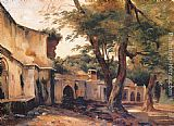 Jean-Charles Langlois Fountain near Algiers painting