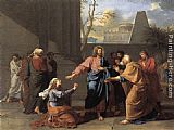 Jean-Germain Drouais The Woman of Canaan at the Feet of Christ painting