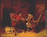 Jean-Louis Ernest Meissonier Chess Players painting