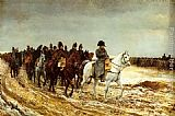 Jean-Louis Ernest Meissonier The French Campaign painting