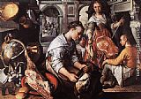 Joachim Beuckelaer Christ in the House of Martha and Mary painting