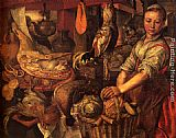 Joachim Beuckelaer Interior of a Kitchen painting