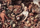 Joachim Beuckelaer The Vegetable Market painting