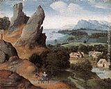 Joachim Patenier Landscape with the Flight into Egypt painting