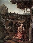 Joachim Patenier Rocky Landscape with Saint Jerome painting