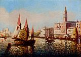 Joaquin Miro Trading Vessels In The Bacino Di San Marco, Venice painting