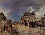 Johan Barthold Jongkind Faubourg Saint-Jacques, the Stagecoach painting