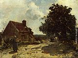 Johan Barthold Jongkind In the Vicinity of Nevers painting