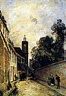 Johan Barthold Jongkind Rue De L'Abbe-De-L'Epee And The Church Of Saint James painting