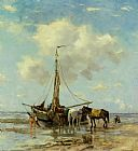 Johan Frederik Cornelis Scherrewitz Shellfishers at Low Tide painting