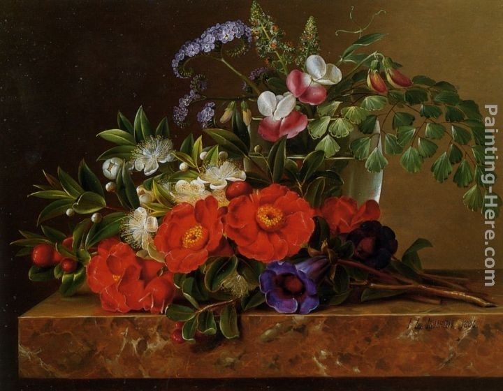 Johan Laurentz Jensen Still life with roses