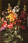 Johan Laurentz Jensen A Still Life Of Hollyhocks And Poppies painting