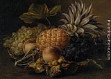 Johan Laurentz Jensen Fruit and Hazlenuts in a Basket painting