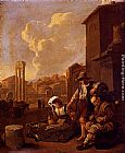 Johannes Lingelbach Peasant Family Having Bread And Wine, The Campo Vaccino, Rome, Beyond painting