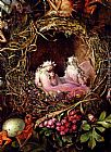 John Anster Fitzgerald Fairies In A Bird's Nest (detail 1) painting